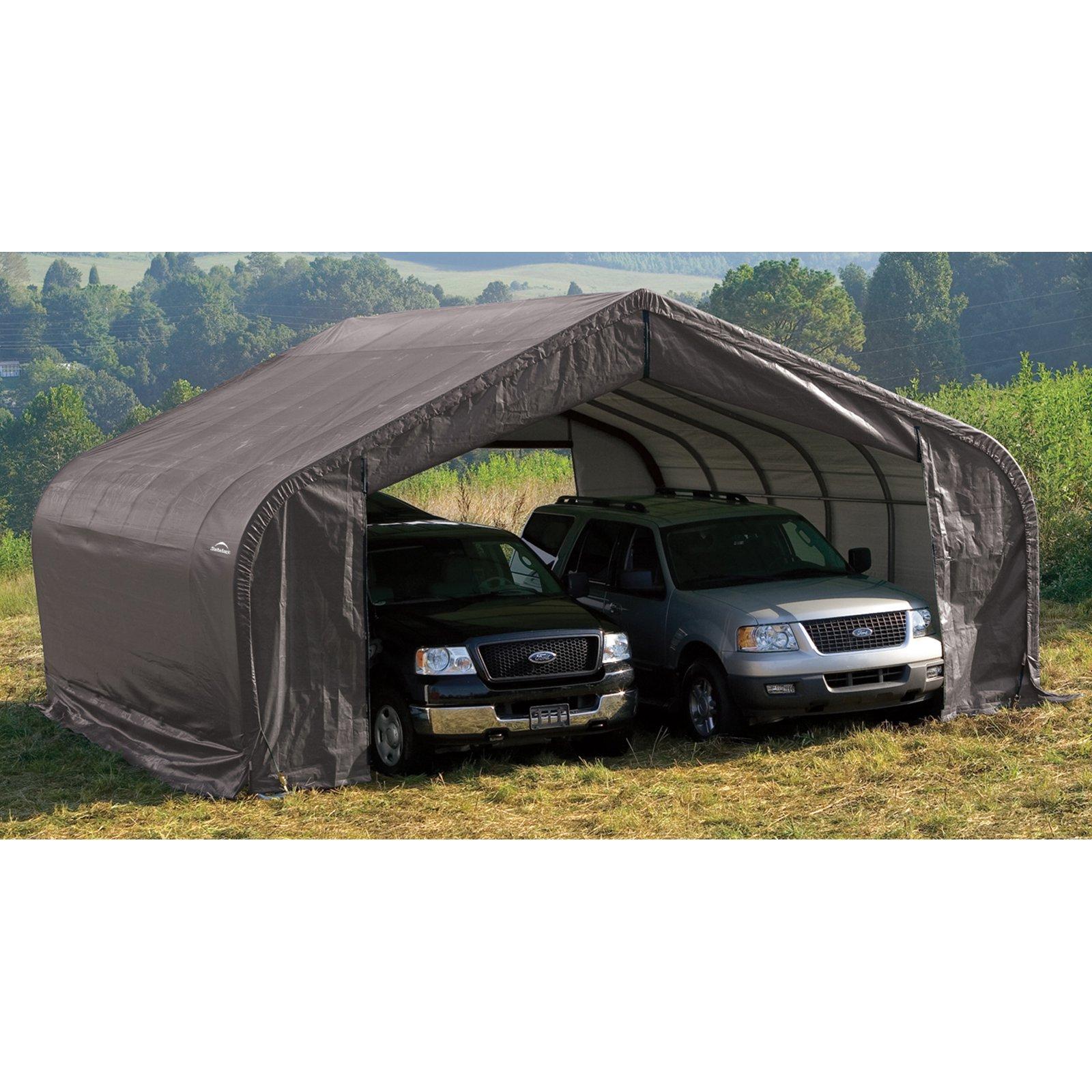 22' x 28' x 10' Peak Style Shelter, Green