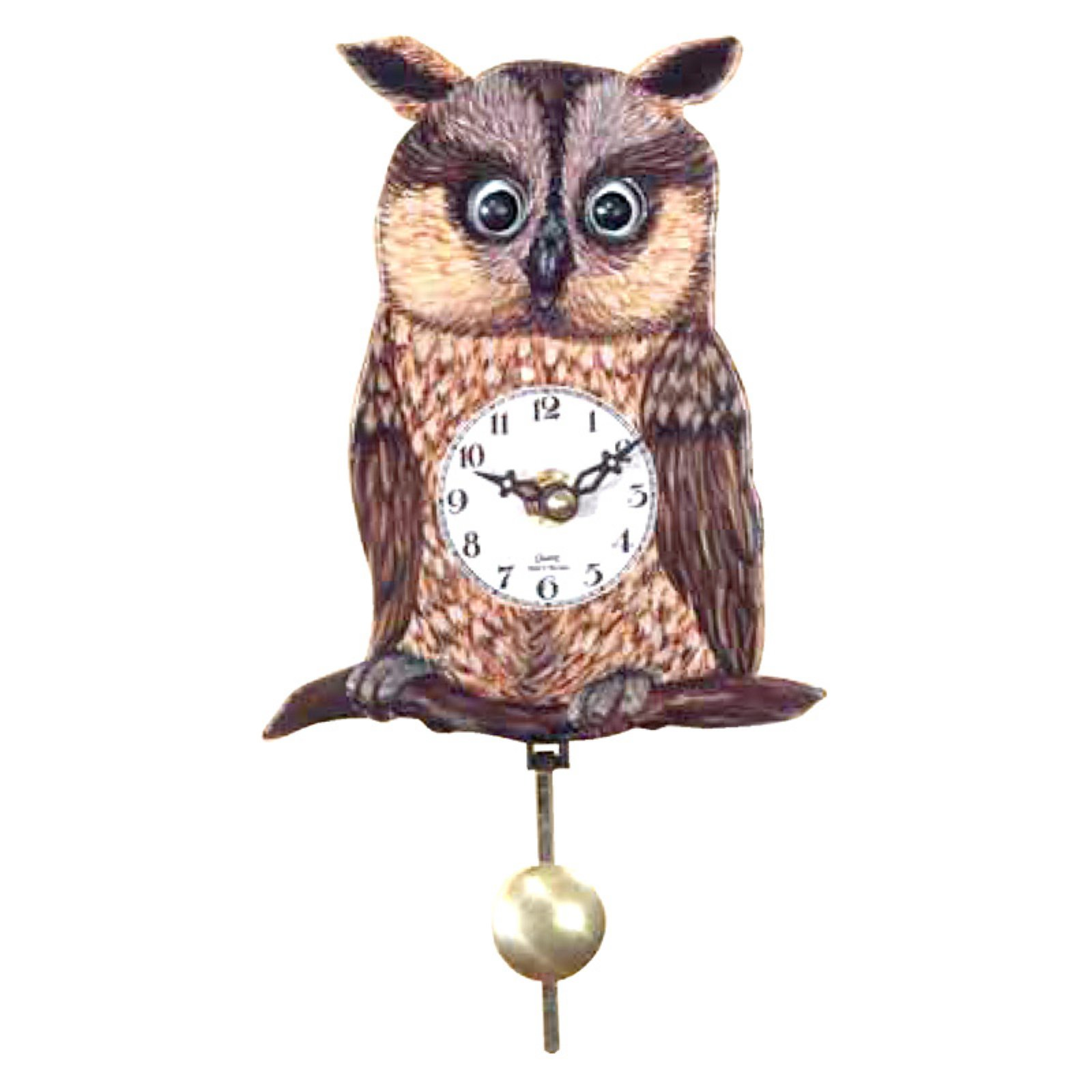 Black Forest Owl' Eye 5.75-Inch Wide Wall Clock