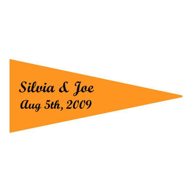 Weddingstar 8606-09 Boat Flag Stickers- Sunflower- pack of 36 by Weddingstar