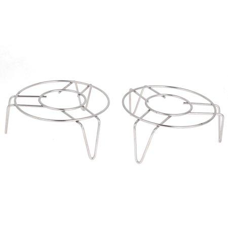 - Cookware 12cm x 5cm Stainless Steel 3 Legs Cooker Food Steam Rack 2 Pcs