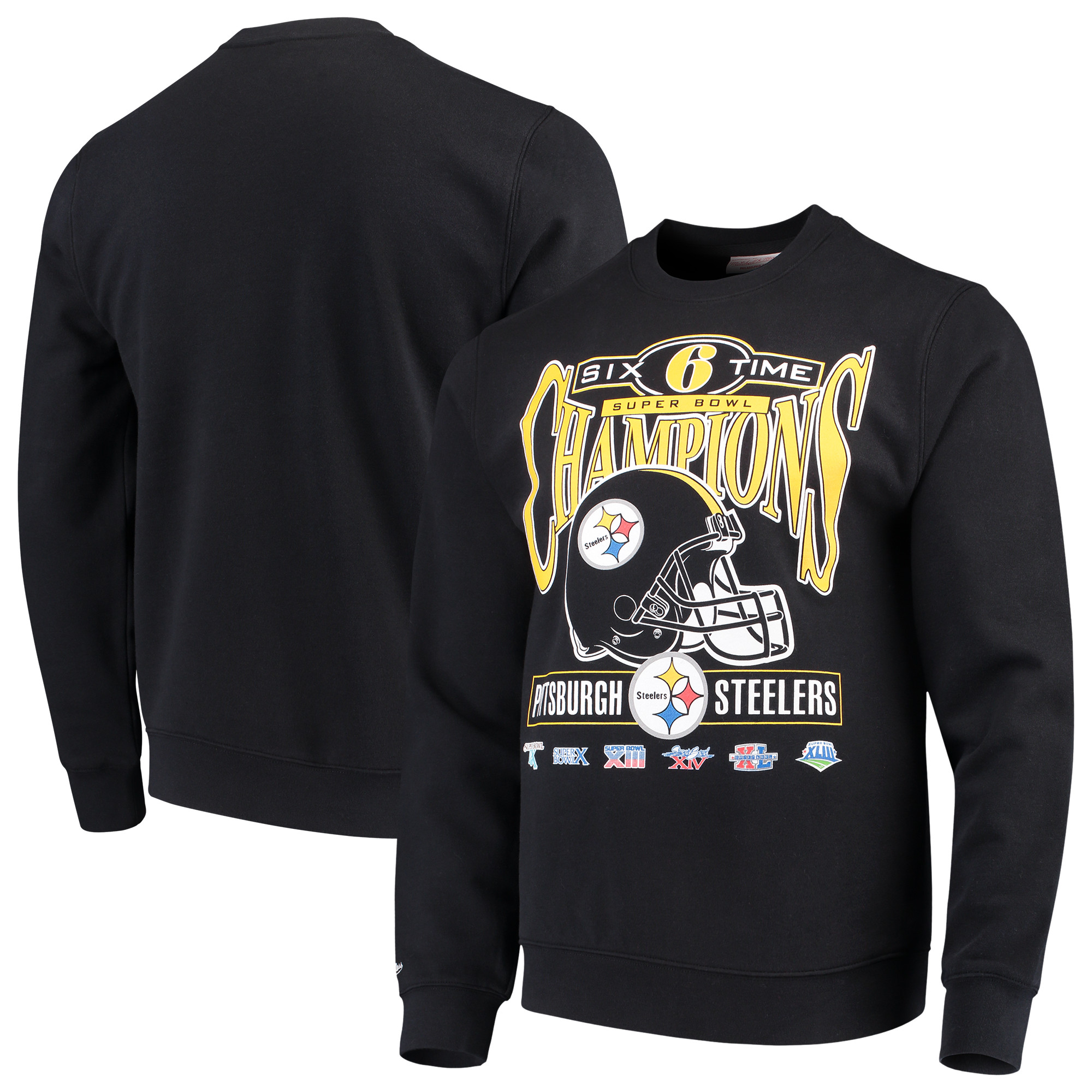 Pittsburgh Steelers Mitchell & Ness All-Time Great Pullover Sweatshirt - Black