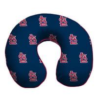 St. Louis Cardinals Memory Foam Travel Pillow - Blue - No Size