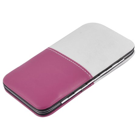 12 in 1 Faux Leather Case Manicure Nail Clipper Cuticle Grooming Set Pink White - image 2 of 3