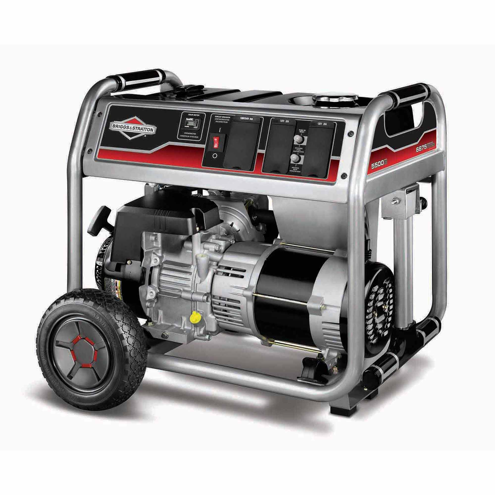 Briggs and Stratton 5500-Watt Gas Powered Portable Generator with 1650 Series 342cc Engine and Power Surge Alternator