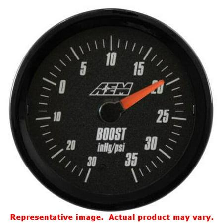 AEM 30-5132 -30-35PSI SAE Boost Analog Gauge (Aem Analog Boost)