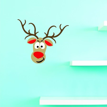 Custom Decals Reindeer Wall Art Size 20 X 20 Inches Color Multi