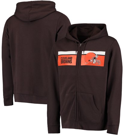 Cleveland Browns Majestic Touchback Full-Zip Hoodie - Brown