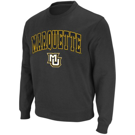 Marquette Golden Eagles Stadium Athletic Arch & Logo Crew Pullover Sweatshirt - Charcoal