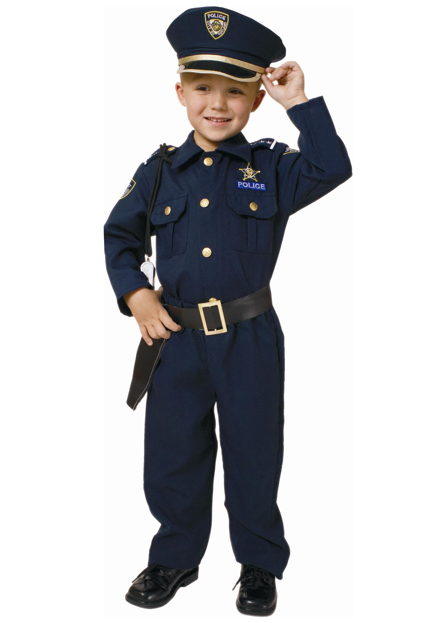 Child Deluxe Police Officer Costume by Dress Up America