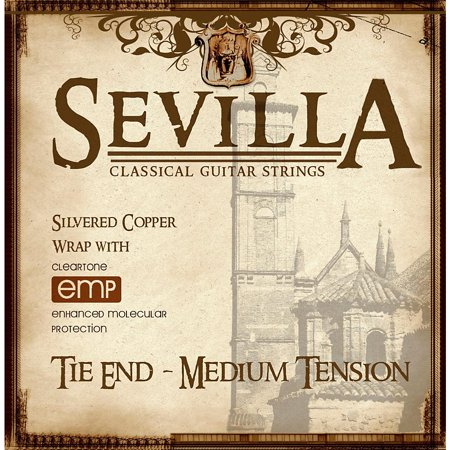 Sevilla Classical Guitar Strings Medium Tension Classical Tie-On Guitar Strings Classical Guitar Strings Tie End