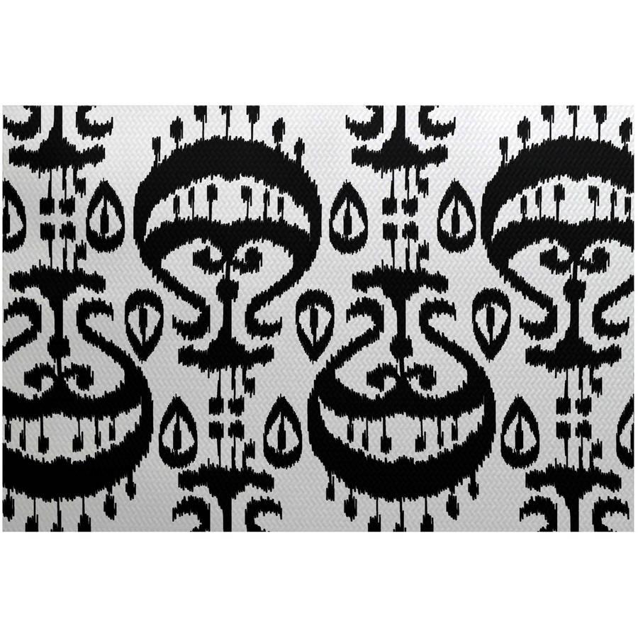 Simply Daisy 3' x 5' Ikat Geometric Print Indoor Rug