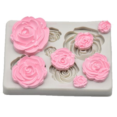 Rose Flower Silicone Mold Fondant Mold Cake Decorating Tools Chocolate Mold