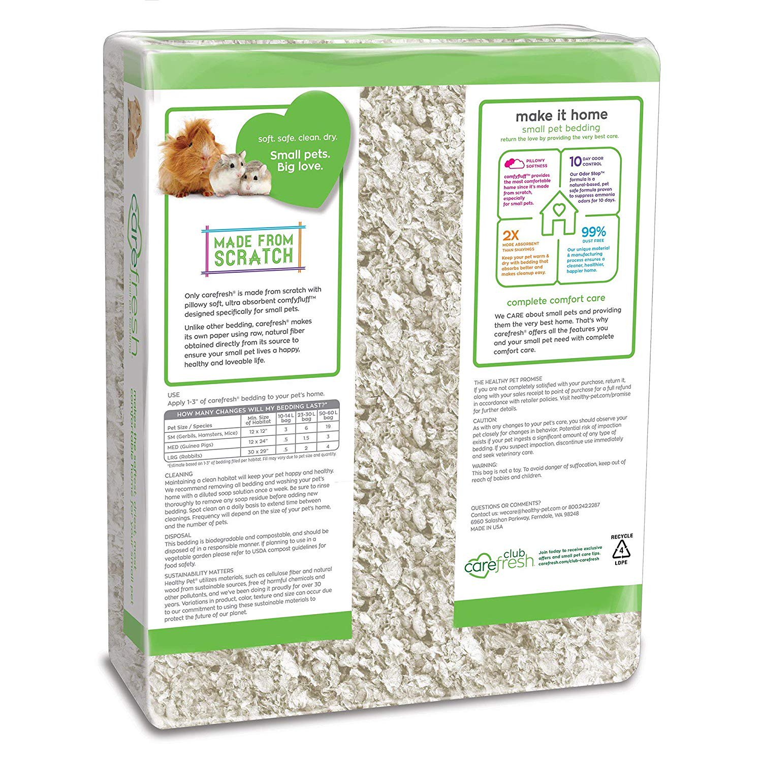 Absorption Corp Carefresh Ultra Pet Bedding 50 Liter Cleaner More Cozy More Comfortable Environment By Monster Pets Walmart Com Walmart Com