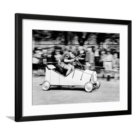 Boy Scouts Soap Box Derby, 1955 Framed Print Wall Art