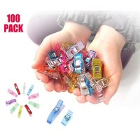 100 Pack Sewing Clips Multipurpose Quilting Clips Wonder Clips with bottle Assorted Colors 2 Size 90 Small 10 Large