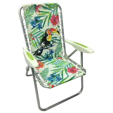 Mainstays Folding Bungee Beach Chair Toucan Walmart Com