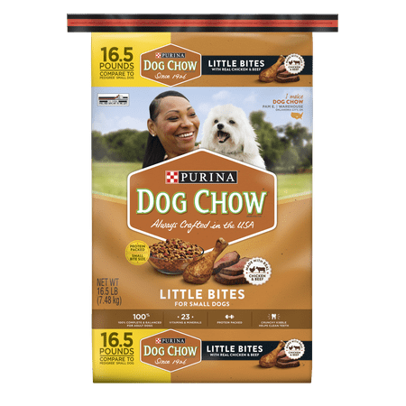 Purina Dog Chow Little Bites Real Chicken & Beef Adult Dry Dog Food - 16.5 lb. Bag