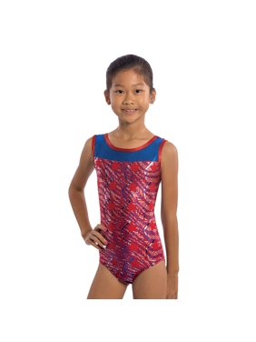Girls Gymnastics Leotards Red White Blue and You by Lizatards Girls XS (4)