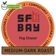 SF Bay Coffee Fog Chaser 120 Ct Medium Dark Roast Compostable Coffee Pods, K Cup Compatible including Keurig 2.0