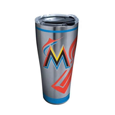 MLB Miami Marlins Genuine 30 oz Stainless Steel Tumbler with lid (Marlin 30 30 Stock)