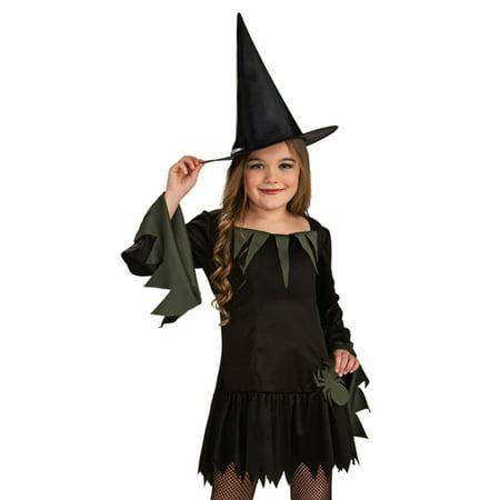 Halloween Witch Dress (Rubies Goth Girl Cute Witch Dress Kids Halloween Costume)