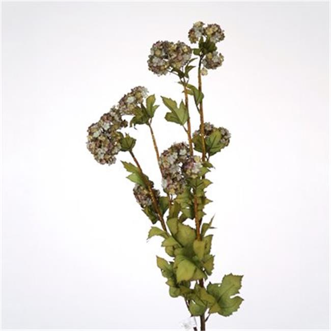 Distinctive Designs DK-835-ANPP DIY Flower Antique Purple Snowball Branch - Pack of 12