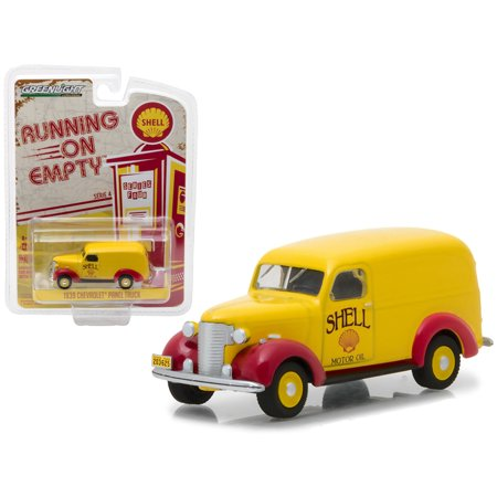 "1939 Chevrolet Panel Truck Shell Oil ""Running on Empty"" Series 4 1/64 Diecast Model Car by Greenlight"