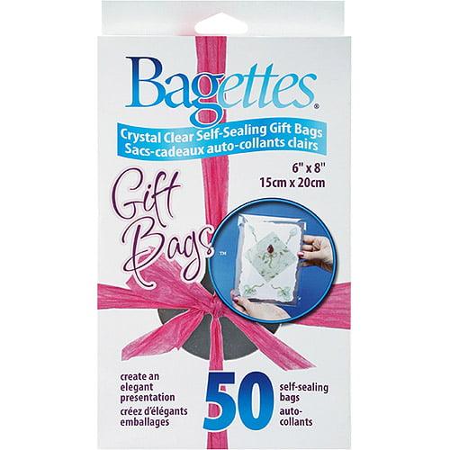 "Bagettes Self-Sealing Gift Bags 6""X8""-50/Pkg"