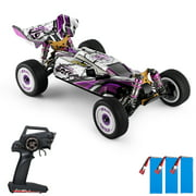 Wltoys 124019 High Speed Racing Car 60km/h 1/12 2.4GHz RC Car Off-Road Drift Car RTR 4WD Aluminum Alloy Chassis Zinc Alloy Gear with 3 Battery
