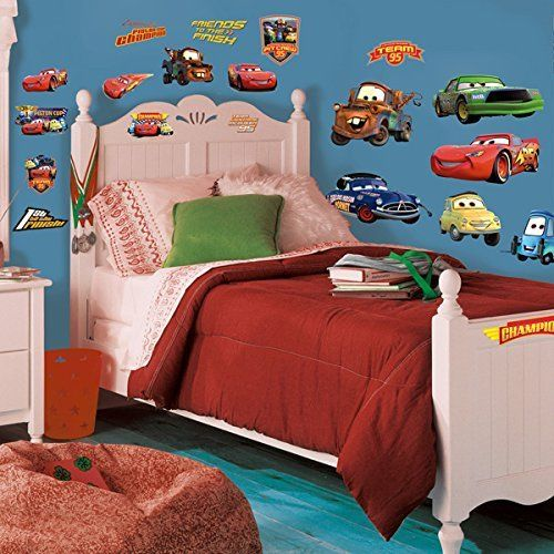 Superbe DISNEY CARS 19 BiG Piston Cup Wall Stickers Lightning McQueen Room Decor  Decals