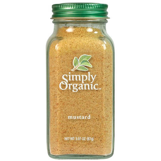 Simply Organic Mustard Seed Ground Certified Organic, 3.07 Oz Container
