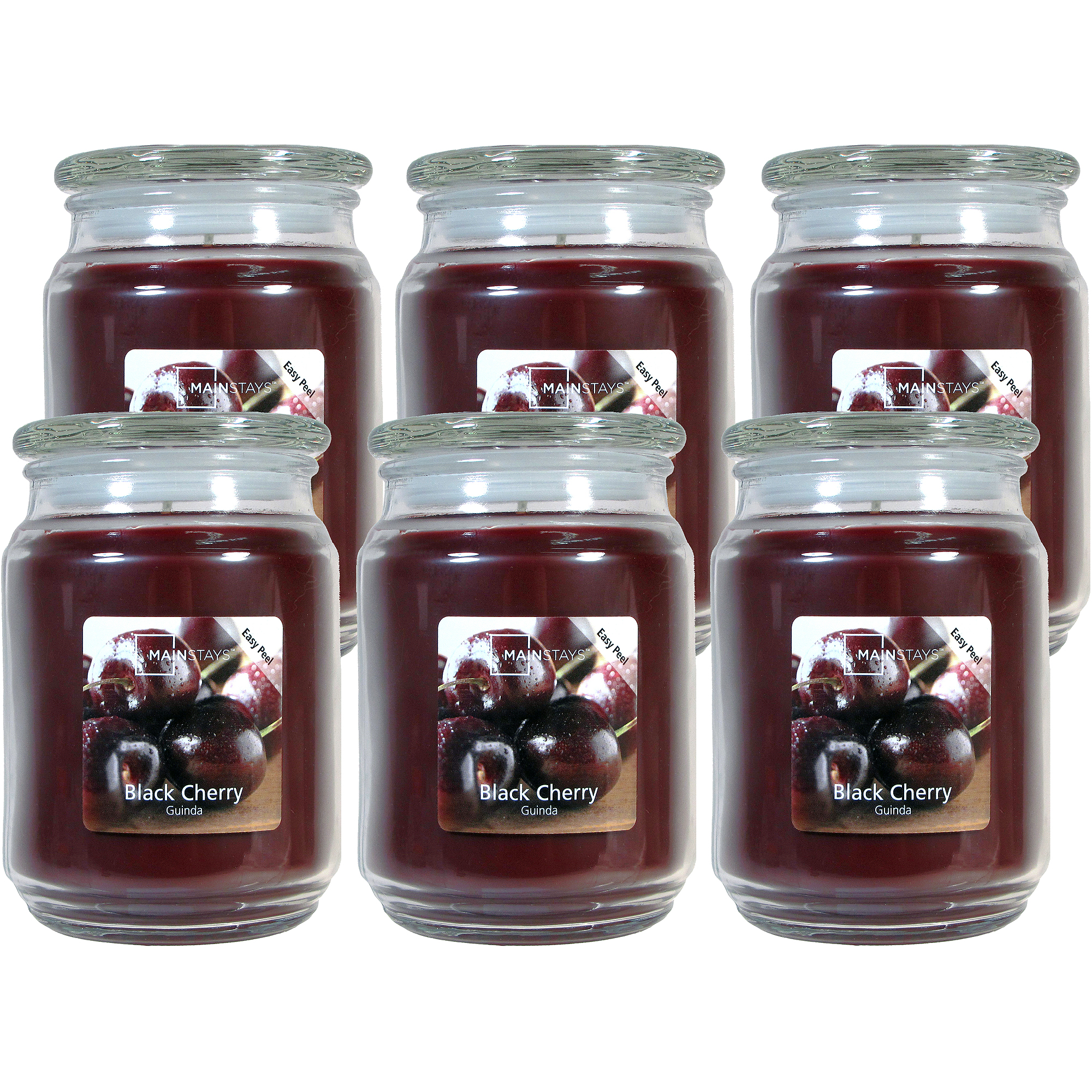 Mainstays 20-oz. Jar Candle, Black Cherry, Set of 6