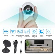 EEEkit Mini WiFi Nanny Camera, 720P Wireless Security Camera Video Camera Small Nanny Cam with Night Vision and Motion Activated Indoor Use Security Cameras Surveillance Cam for Car Home Office