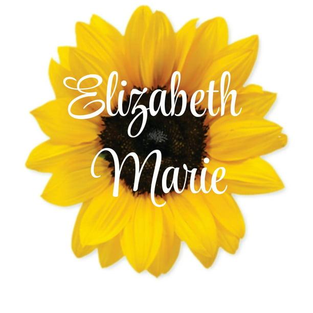 Happy camper floral sunflower vinyl sticker