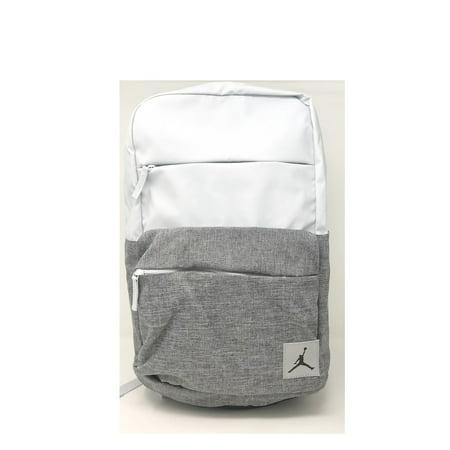 Nike Jordan Pivot Colorblocked Classic School Backpack, Pure Platinum