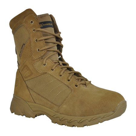 Desert Stealth 8' Tactical Boot - Smith & Wesson® Footwear Breach 2.0 Men's Tactical Side-Zip Boots - 8