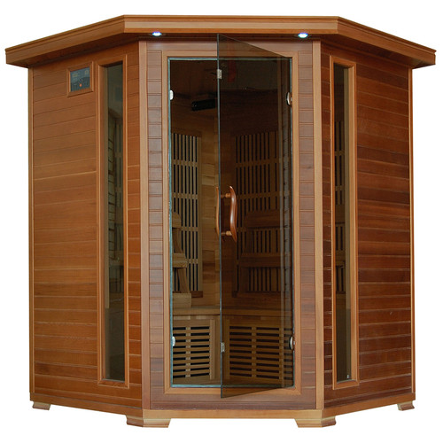 Radiant Sauna 4 Person Cedar Corner Infrared Sauna by RADIANT