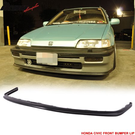 OE Factory Style Fits 88-91 Honda Civic Front Bumper Lip - PU ()