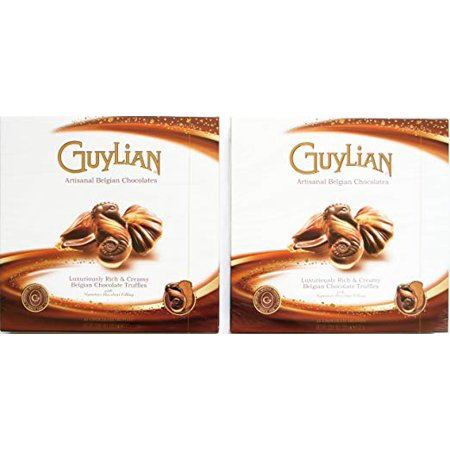 Guylian Belgian Seashell Truffles with Hazelnut Filling Chocolate, 8.8 Oz. (Pack of 2)
