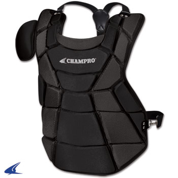 Contour Fit LightWeight Catcher Chest Protector- Youth 15.5''L, Black