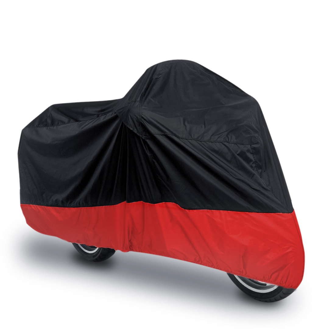 XL 180T Rain Dust Bike Motorcycle Cover Outdoor UV Snow Water Proof Black Red