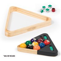 Classic Sport 2-in-1 Solid Wood Triangle with Pool Chalk and Scuffer
