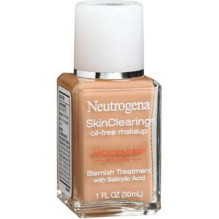 2 Pack - Neutrogena SkinClearing Oil-Free Liquid Makeup, Natural Tan [100] 1 oz