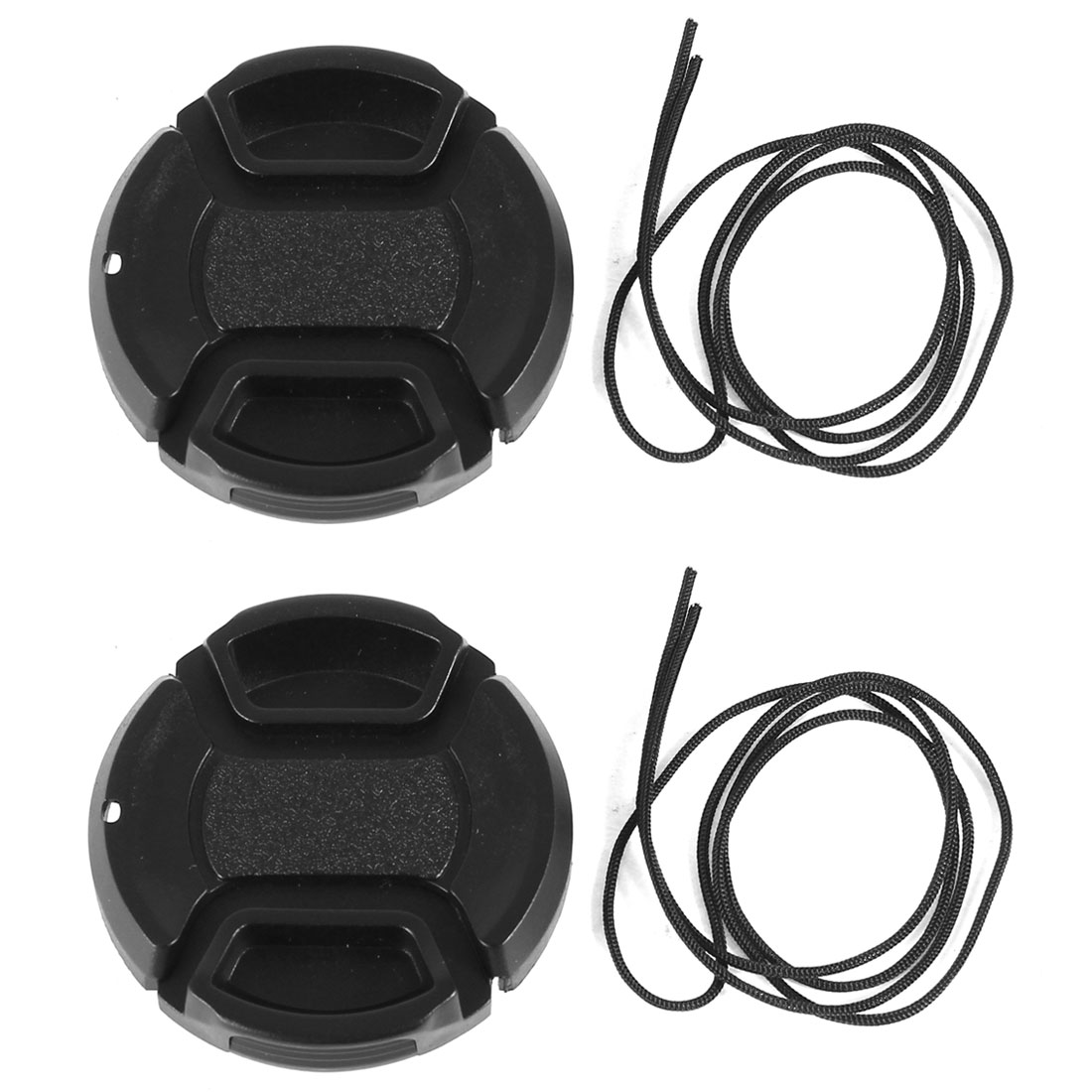Unique Bargains 2 Pcs 40.5mm Center Pinch Lens Cap Cover w Strap Leash for DLSR Digital Cameras