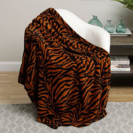 Animal Print Ultra Plush Brown Zebra Full Size Microplush Blanket