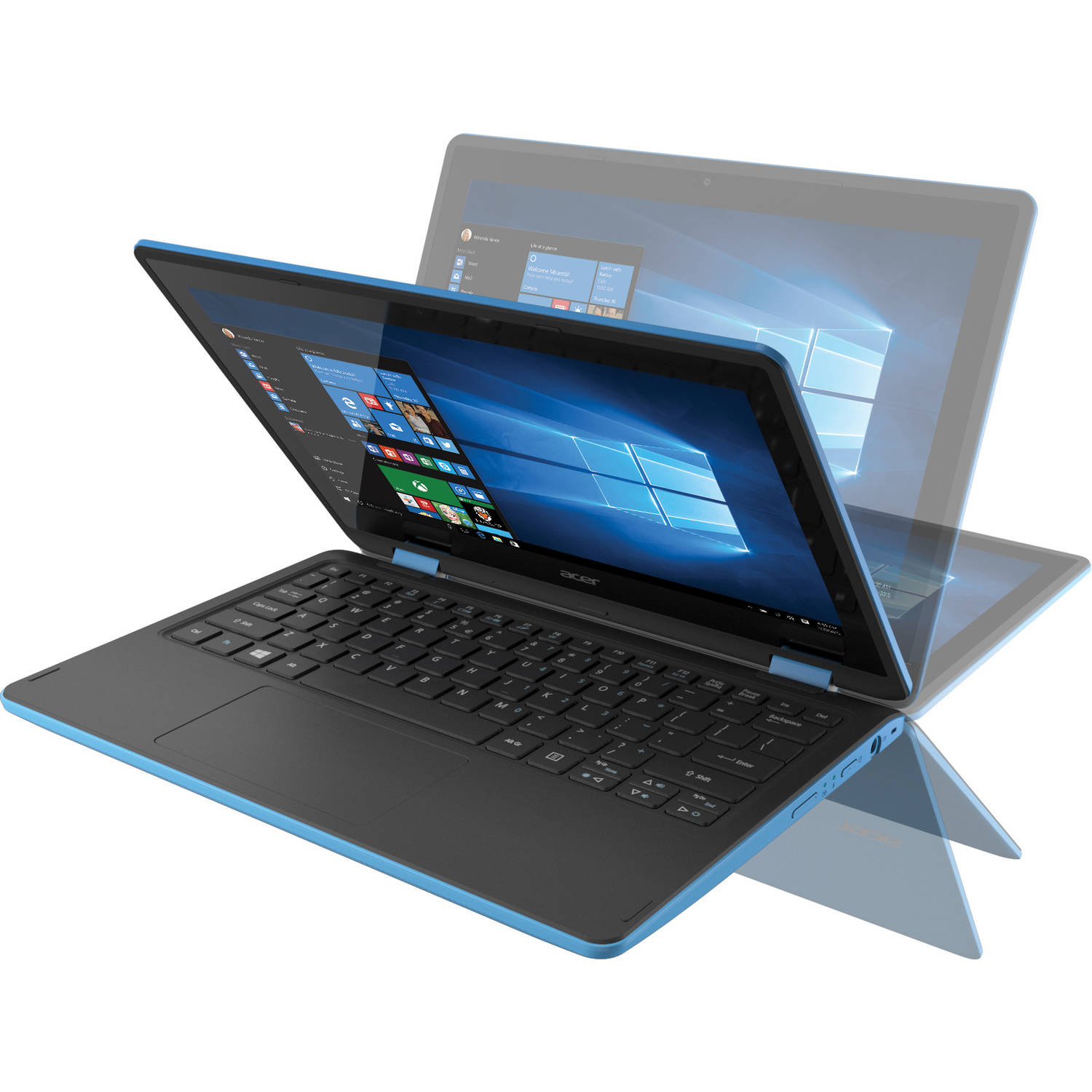 "Acer Sky Blue 11.6"" R11 R3-131T-C1YF touch screen 2-in-1 Convertible Laptop PC with Intel Celeron N3050 Processor, 2GB Memory, 32GB eMMC and Windows 10"