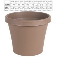 "Bloem Terra Pot Planter 20"" Chocolate"