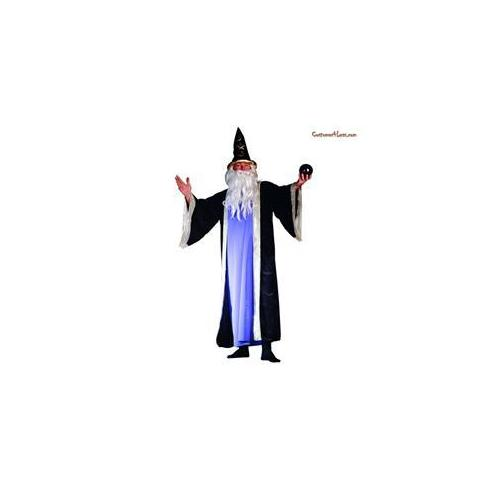 RGCostumeCostume 80113-BL Adult Male Deluxe Wizard - Blue Std - One Size