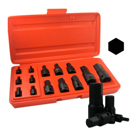 Black Impact Metric Size Hex Allen Bit Socket Drive Tool Set for Wrench