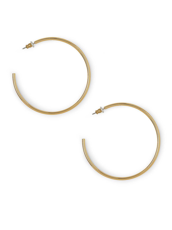 Bold Hoops Thin Tubular Earrings
